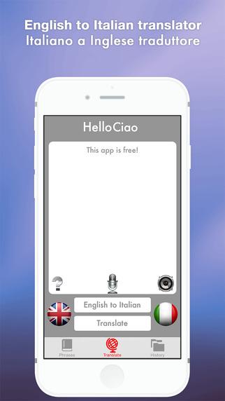 Hello Ciao - English to Italian Translator Italiano a Inglese