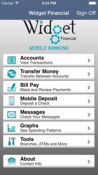 Widget Financial Mobile Banking