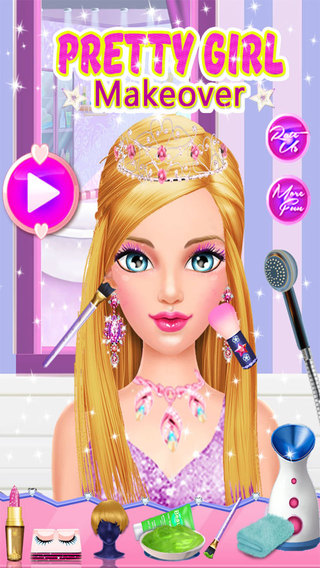 My Beauty Girl Makeup - Dress Up Makeover For This Beautiful Little Princess Fashion Star