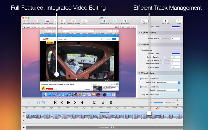 Screenium 3.2.0 Mac 破解版 – 优秀的屏幕录像工具-麦氪派