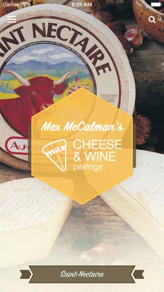 Max McCalman's Cheese Wine Pairing App