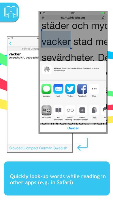 German <-> Swedish Talking SlovoEd Pocket Dictionary iPhone Screenshot 3