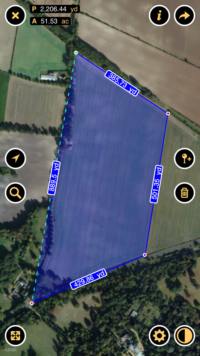 Planimeter - Measure Land Area and Distance on a Map app image
