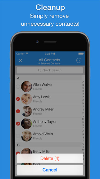 Smart Merge Pro - Duplicate Contacts Cleanup from your address book Screenshots