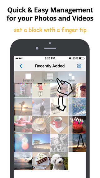Photo Drag - Private Albums with Touch ID Photo Video Management