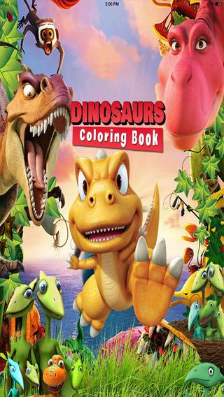Toddler Dinosaur Coloring Book - Dino Color Fun for Kids
