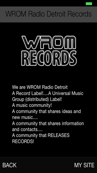 WROM Radio Detroit Records