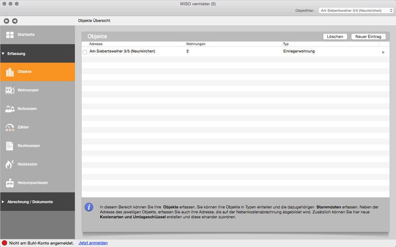 WISO vermieter Screenshot - 2