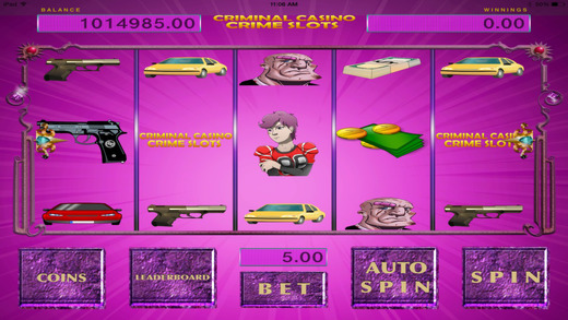 Aaah Criminal Casino Crime Lucky Slots with Jackpots Payouts Free