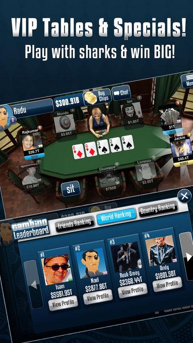 Gambino Poker iPhone Screenshot 5