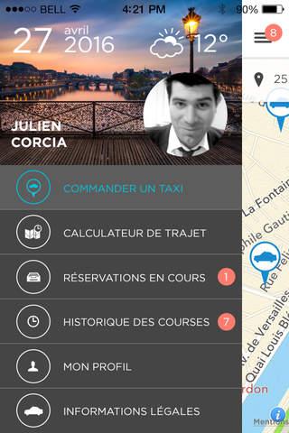 Taxis Bleus : seul ou partagé screenshot 1