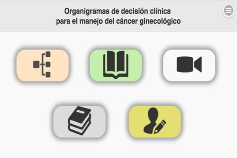 Organigramas de decisión clínica para el manejo del cáncer ginecológico screenshot 1