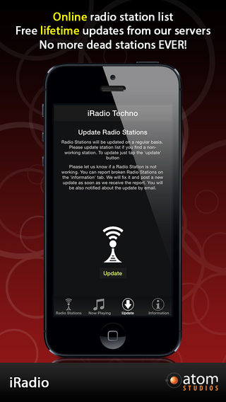 iRadio: Techno iPhone Screenshot 3