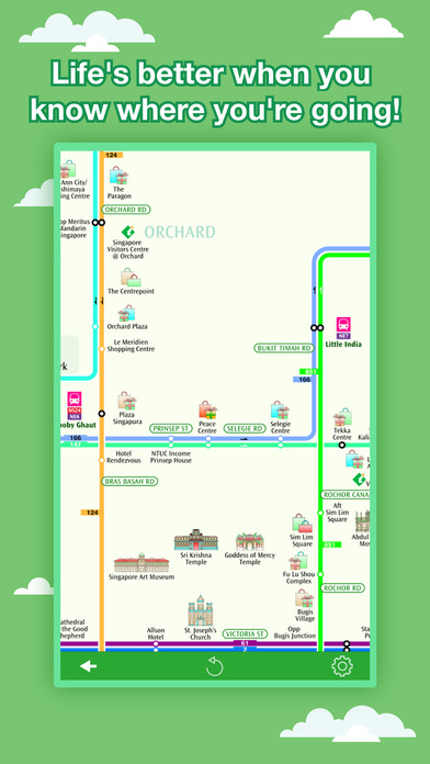 Singapore Maps - Download MRT, LRT Maps and Tourist Guides. iPhone Screenshot 5