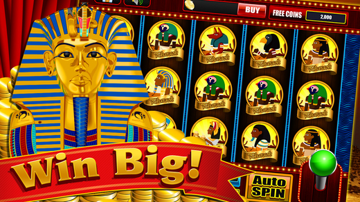 Queen of Egypt Pharoah Cleopatra Treasure Las Vegas Slot Machine
