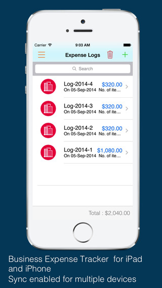 Business Expense Tracker Pro : for time mileage invoice