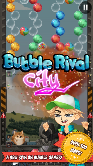 Bubble Rival - City Bobble - A puzzle racing shooter game