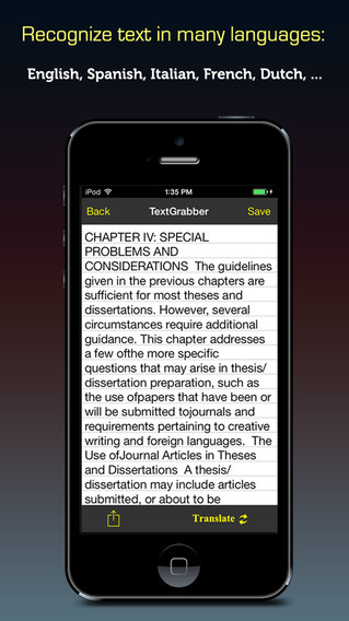 Text Recognizer Pro ™ OCR recognition app for scan character image and convert to editable documents
