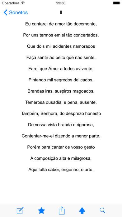 Sonetos de Luís de Camões iPhone Screenshot 2