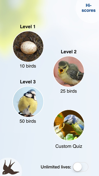 Chirp! Bird Songs Europe (original) iPhone Screenshot 3