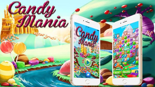 Candy Mania Blitz - FREE Addictive Match 3 Puzzle game for kids and girls