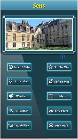 Sens Offline Map Travel Explorer