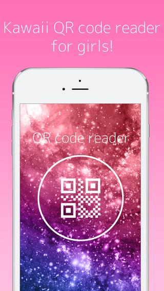 kawaii QR code reader with skins