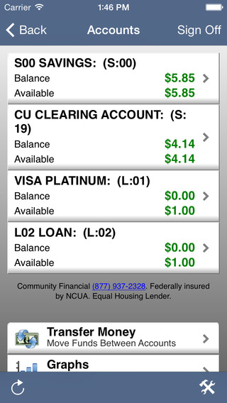 Community Financial Mobile Banking
