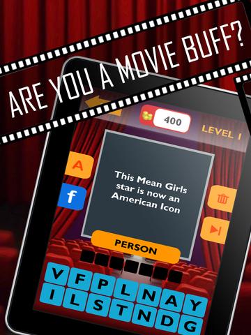 Movie Trivia Quiz: Guess pop movie stars, actors, actresses.  New fun puzzles! screenshot