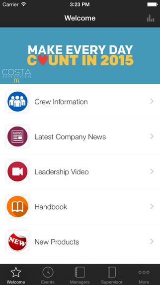 Costa Ent Employee App