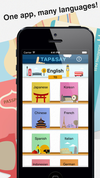 Tap Say - Speak Phrase Book for travelling the world