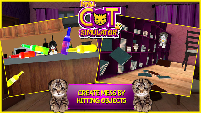 Real Cat Simulator 3D - Little Cute Kitty Simulation Game to Explore Play in Home