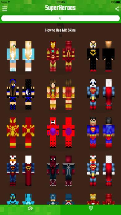 Майнкрафт скины супергероев