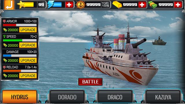 Sea Battleship Combat 3D