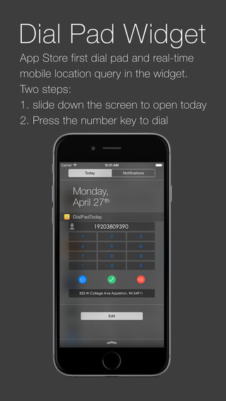 DialPad Widget Phone Number Locator