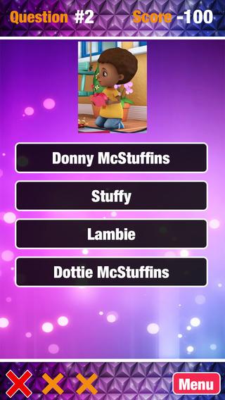 Quiz Game for Doc Mcstuffins