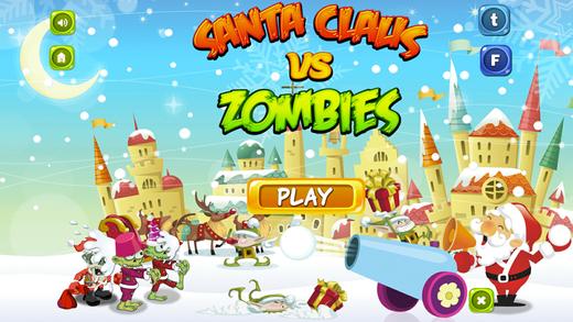 Santa Claus vs Zombie