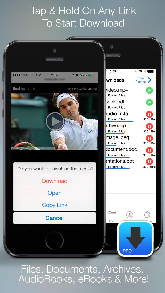 iDownloader - Downloads and Download Manager! screenshot 1