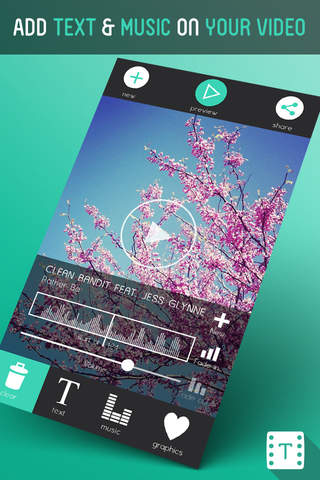 Screenshot 1 Text On Video - Easy to Use Typography & Music Video Editor for Vine,  Youtube and Instagram