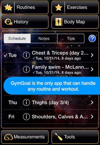 Screenshot 2 GymGoal 2