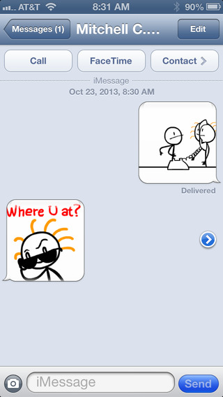 Stick Texting - The Emoji Emoticons Killer (Emoticon Emojis) Screenshots