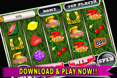SLOTS Super Fruit Casino - Free Best New Slots Game of 2015! screenshot 1