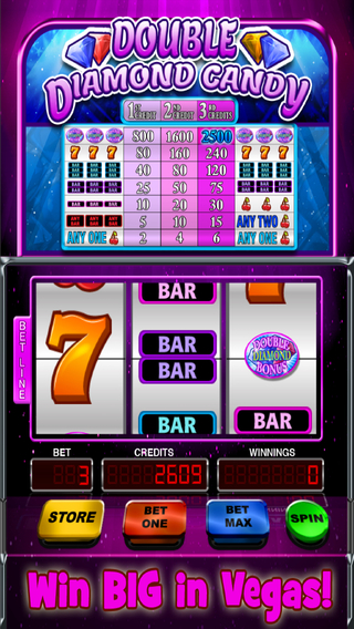Double Diamond Candy Slot Machine FREE