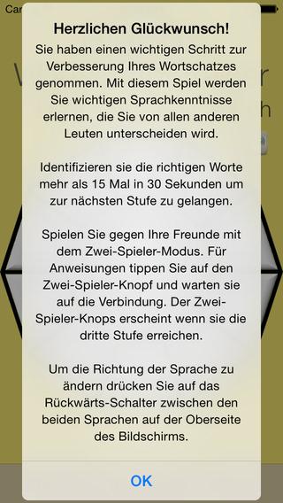 Vocabulary Trainer: German - Slovenian iPhone Screenshot 5