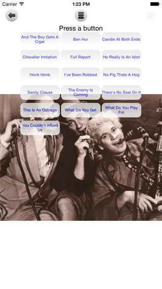 Marx Brothers Sound Board iPhone Screenshot 1