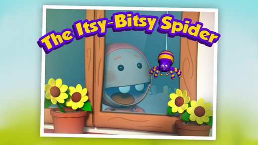 Itsy Bitsy Spider: 3D Interactive Story Book For Children in Preschool to Kindergarten