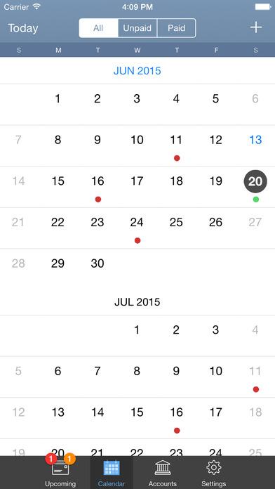 BillTracker iPhone Screenshot 2