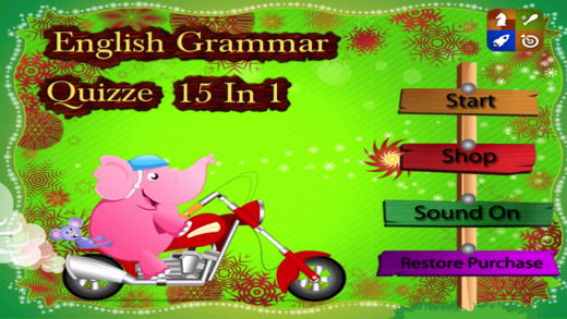 English Grammar Quizze 15 in 1