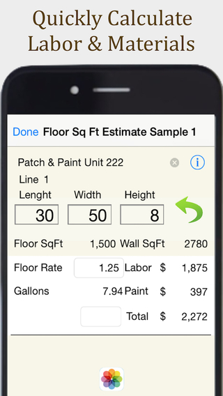 Painting Contractor Estimating and Invoicing Tool for many trades: Painters Decorators Designers Art