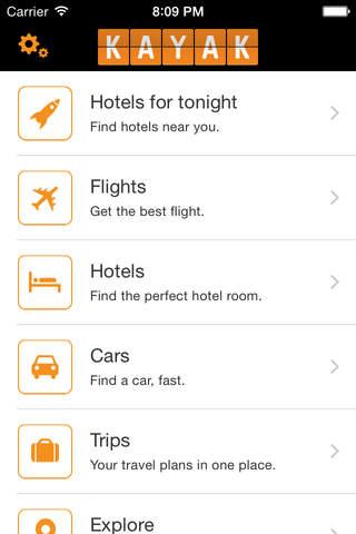 Screenshot 1 KAYAK Flights,  Hotels & Cars